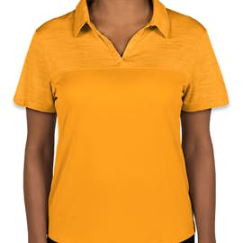 Augusta Women's Tonal Heather Performance Polo - Color: Gold