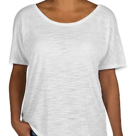Bella + Canvas Women's Flowy Slub T-shirt - Color: White Slub