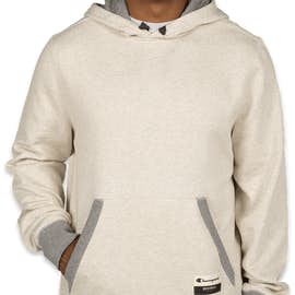 Champion Authentic Sueded Pullover Hoodie  - Color: Oatmeal Heather / Oxford Grey