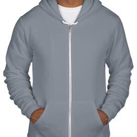 American Apparel Flex Fleece Zip Hoodie - Color: Slate