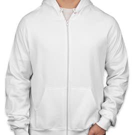 American Apparel Zip Hoodie - Color: White