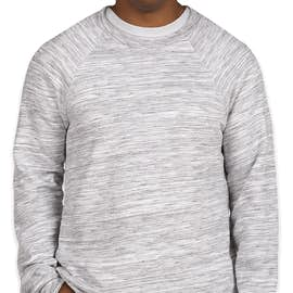 Bella + Canvas Ultra Soft Crewneck Sweatshirt - Color: Light Grey Marble