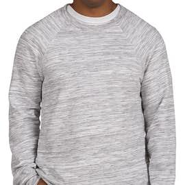 Bella + Canvas Ultra Soft Crewneck Sweatshirt - Color: Light Grey Marble