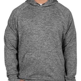 Sport-Tek Electric Heather Performance Pullover Hoodie - Color: Black Electric