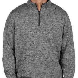 Sport-Tek Electric Heather Performance Quarter Zip Pullover - Color: Black Electric