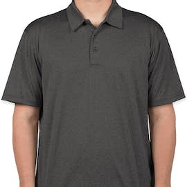 Sport-Tek Heather Performance Polo - Embroidered - Color: Graphite Heather