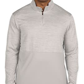 Augusta Tonal Heather Quarter Zip Performance Shirt - Color: Silver