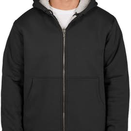CornerStone DWR Heavyweight Sherpa-Lined Hooded Work Jacket - Color: Black