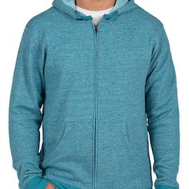 Next Level Melange Zip Hoodie - Color: Turquoise