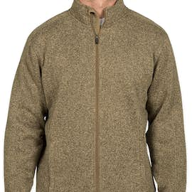 Devon & Jones Full Zip Sweater Fleece Jacket - Color: Khaki Heather