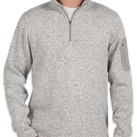 Charles River Quarter Zip Sweater Fleece Pullover - Color: Light Grey Heather