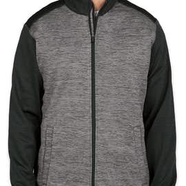 Devon & Jones Newbury Melange Fleece Full Zip Jacket - Color: Black Heather / Dark Grey Heather