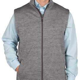 Devon & Jones Newbury Melange Fleece Vest - Color: Dark Grey Heather