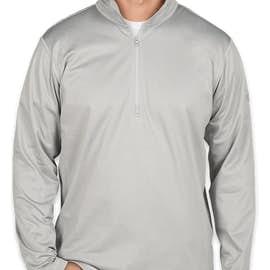The North Face Tech Quarter Zip Fleece Pullover - Color: Light Grey Heather