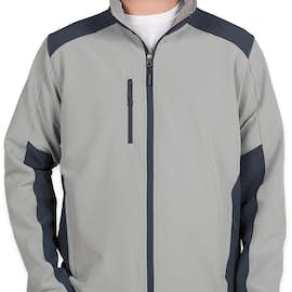The North Face Tech Stretch Soft Shell Jacket - Color: Mid Grey / Urban Navy