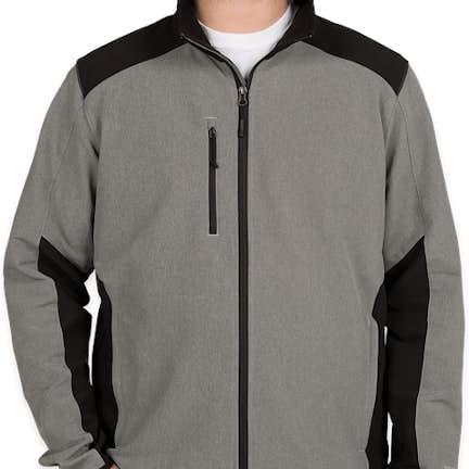 df13faea193d ... The North Face Tech Stretch Soft Shell Jacket - Color  Medium Grey  Heather   Black ...