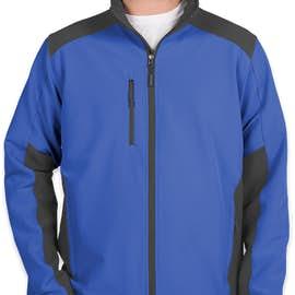 The North Face Tech Stretch Soft Shell Jacket - Color: Monster Blue / Asphalt Grey