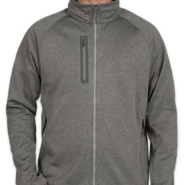 The North Face Canyon Flats Fleece Jacket - Color: Medium Grey Heather