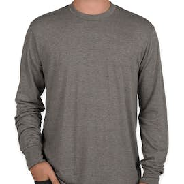 District Made Relaxed Tri-Blend Long Sleeve T-shirt - Color: Grey Frost