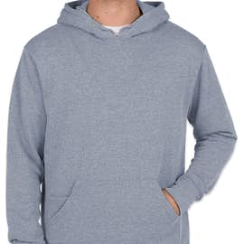 Threadfast Tri-Blend Pullover Hoodie - Color: Denim Heather
