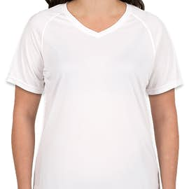 Augusta Women's Attain Raglan Performance Shirt - Color: White