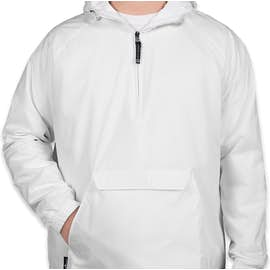 Charles River Classic Hooded Packable Anorak - Color: White