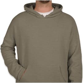 Bella + Canvas Ultra Soft Drop Shoulder Pullover Hoodie - Color: Heather Stone