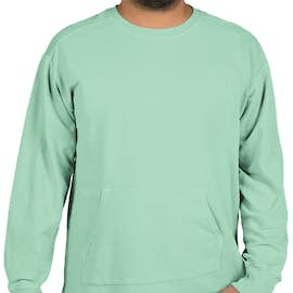 Comfort Colors French Terry Crewneck Sweatshirt - Color: Chalky Mint