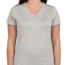 Augusta Women's Tonal Heather V-Neck Performance Shirt - Color: Silver