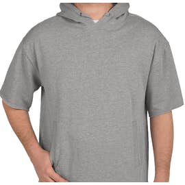 Charles River Short Sleeve Pullover Hoodie - Color: Heather Grey
