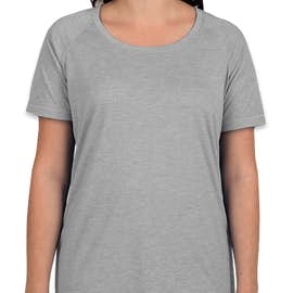 Sport-Tek Women's Tri-Blend Performance Raglan T-shirt - Color: Light Grey Heather