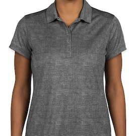 Nike Golf Dri-FIT Women's Crosshatch Performance Polo - Color: Cool Grey / Anthracite