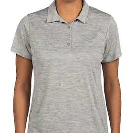 Sport-Tek Women's Electric Heather Performance Polo - Color: Silver Electric