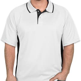 Charles River Tipped Pique Performance Polo - Color: White / Slate