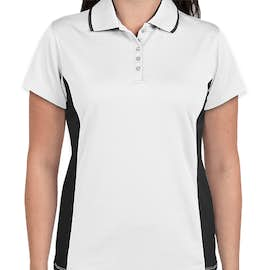 Charles River Women's Tipped Pique Performance Polo - Color: White / Slate