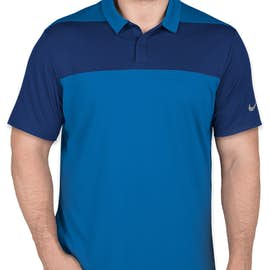 Limited Edition Nike Colorblock Performance Polo - Color: Blue Nebula / Gym Blue