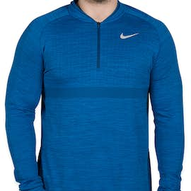 Limited Edition Nike Performance Half Zip Pullover - Color: Blue Nebula / Gym Blue