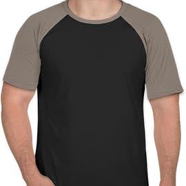 Next Level Short Sleeve Baseball Raglan - Color: Warm Gray / Black