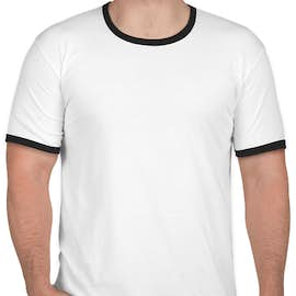 Next Level Ringer T-shirt - Color: White / Black