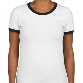 Next Level Women's Ringer T-shirt - Color: White / Black
