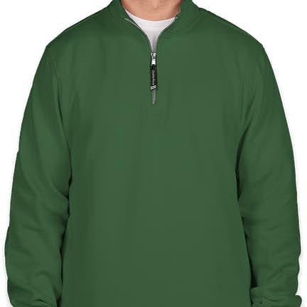 0935a89e ... Charles River Pocket Quarter Zip Sweatshirt - Screen Printed - Color:  Forest