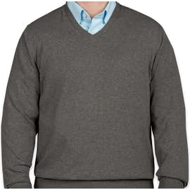 Port Authority V-Neck Sweater - Color: Charcoal Heather