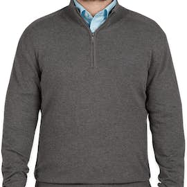 Port Authority Quarter Zip Sweater - Color: Charcoal Heather