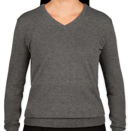 Port Authority Women's V-Neck Sweater - Color: Charcoal Heather