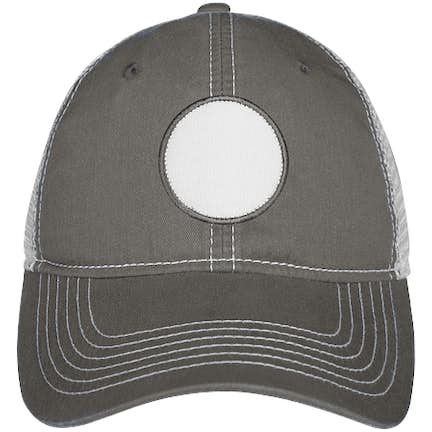f98caf9e Circle Printed Patch Hat - Trucker Circle Printed Patch Hat - Trucker -  Color: Charcoal / White ...