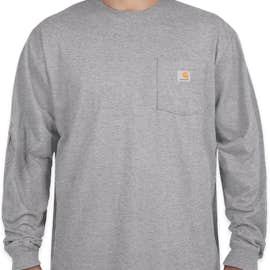 Carhartt Workwear Long Sleeve Pocket T-Shirt - Color: Heather Grey