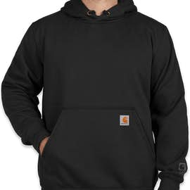 Carhartt Rain Defender Paxton Heavyweight Hooded Sweatshirt - Color: Black