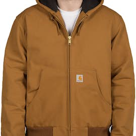 21c6a85a03 Carhartt Water Repellent Flannel Lined Hooded Jacket - Color: Carhartt Brown