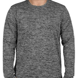 Sport-Tek Electric Heather Long Sleeve Performance Shirt - Color: Black Electric