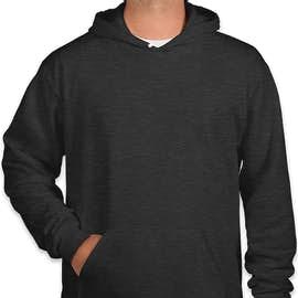 American Apparel Flex Fleece Drop Shoulder Pullover Hoodie - Color: Dark Heather Grey